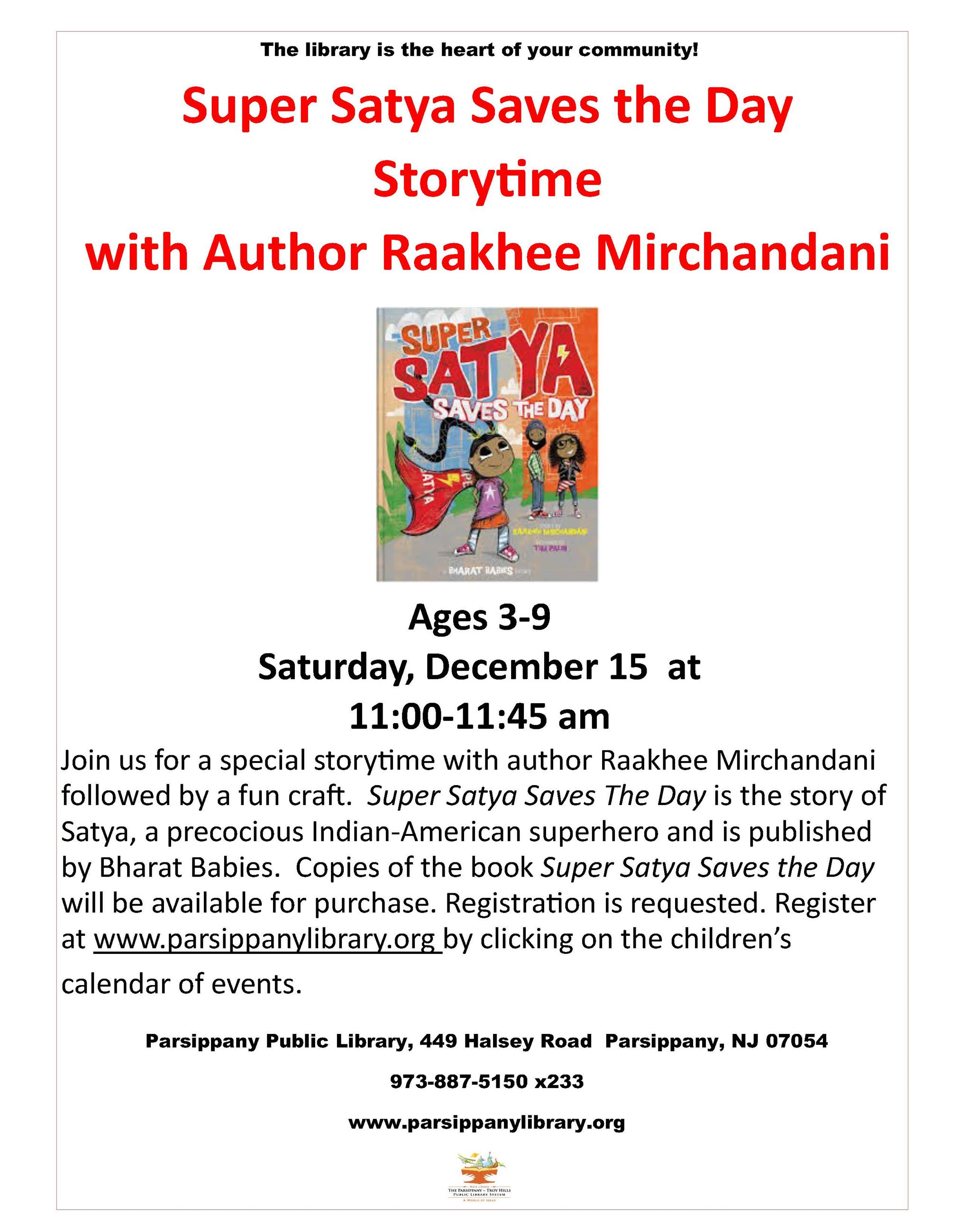 Super Satya Author visit