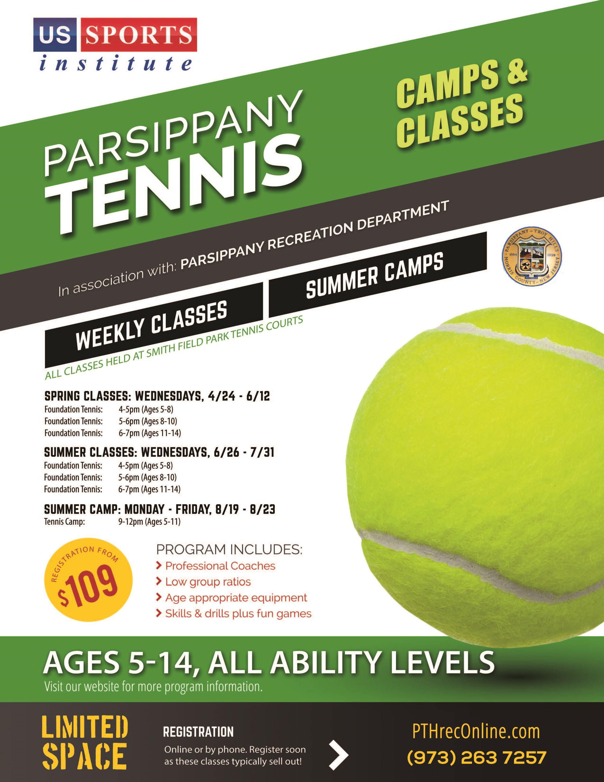 USSI Tennis Classes